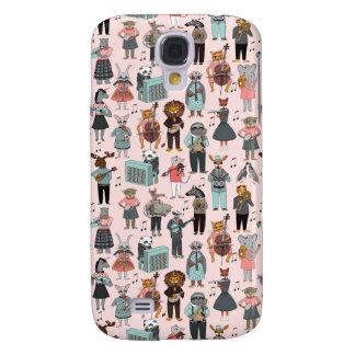 Musical Animal Alphabet - Pink / Andrea Lauren Samsung Galaxy S4 Cover