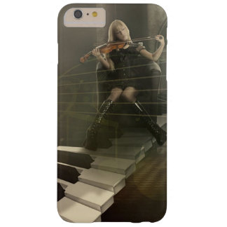 Musical Art Woman Playing Violin on Piano Keys Barely There iPhone 6 Plus Case