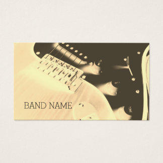 Musical artist guitar artistic cover business card