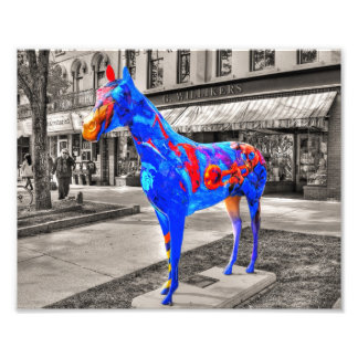 Musical, Artistic Painted Horse Photograph