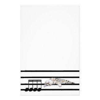 Musical Bengal cat Stationery Design