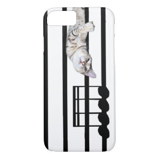 Musical bengal kitty cat iPhone 7 case