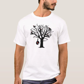 Musical Birds in Tree 1 red vinyl Hangman T-Shirt