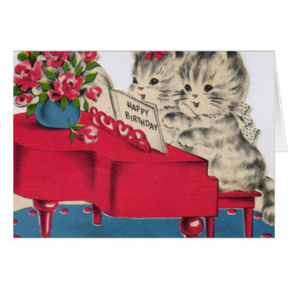 Musical Birthday Kittens Card