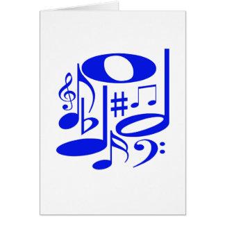 Musical Blue Card