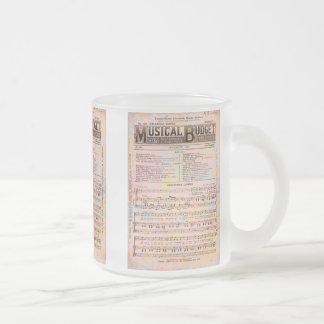 Musical Budget Christmas 10 Oz Frosted Glass Coffee Mug