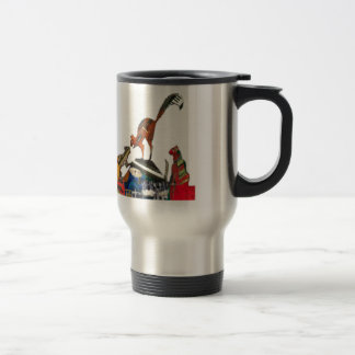 Musical cat Fight Stainless Steel Travel Mug