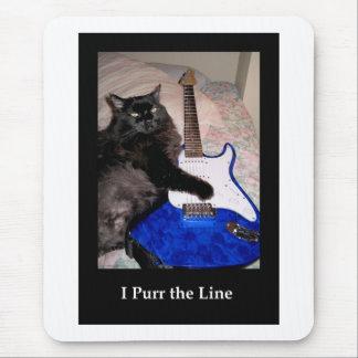 Musical Cat in Black Mousepad