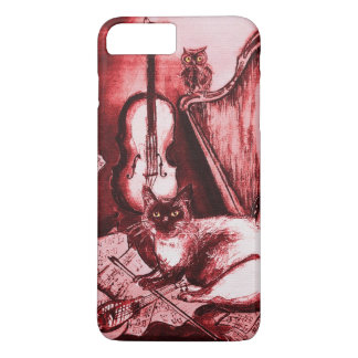 MUSICAL CAT ,Red and White iPhone 8 Plus/7 Plus Case