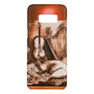 MUSICAL CAT WITH OWL IN BROWN SEPIA  GEM Case-Mate SAMSUNG GALAXY S8 CASE