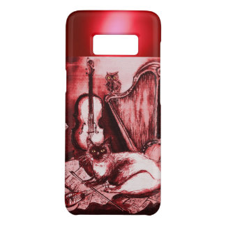 MUSICAL CAT WITH OWL IN RED RUBY GEM Case-Mate SAMSUNG GALAXY S8 CASE