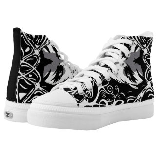 Musical catman lace tennis shoes printed shoes
