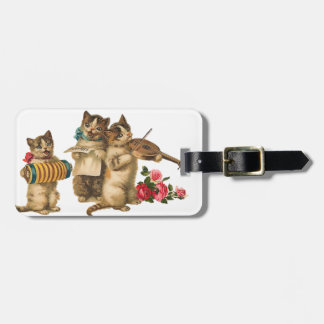 Musical Cats Tag For Bags