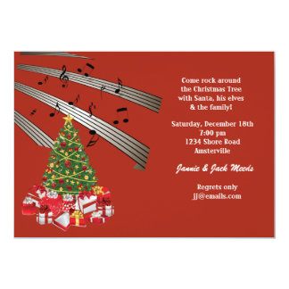 Musical Christmas Invitation