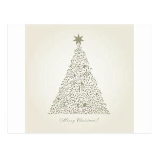 Musical Christmas tree Postcard