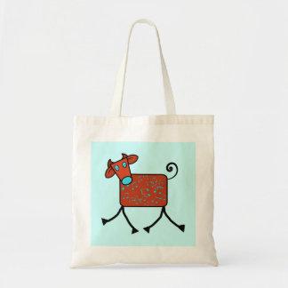 musical cow tote bag