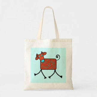 musical cow budget tote bag