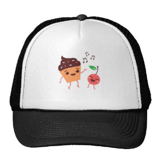 Musical Cupcake and Cherry Hats