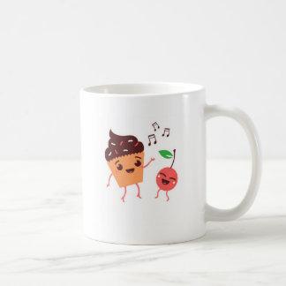 Musical Cupcake and Cherry Coffee Mug