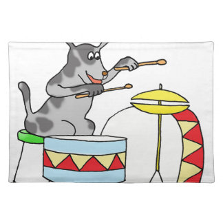 Musical Dog playing drums Placemat
