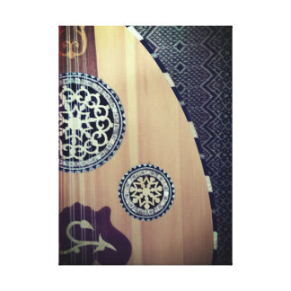 Musical Egyptian Oud Middle Eastern Lute Canvas Print
