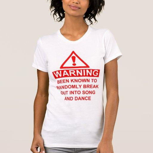 Musical Fan Warning Tshirt