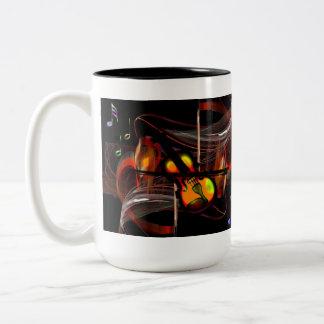 Musical fantasy Two-Tone coffee mug