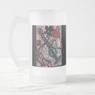Musical Frosted Glass Beer Mug