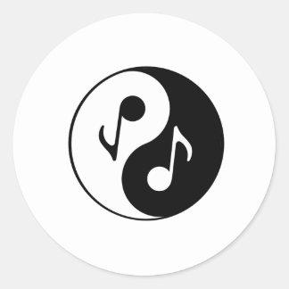 Musical Fusion Classic Round Sticker