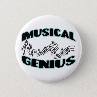 Musical Genius 6 Cm Round Badge