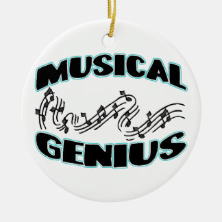 Musical Genius Music Notes Ceramic Ornament