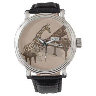 Musical Giraffe Playing Grand Piano Watch