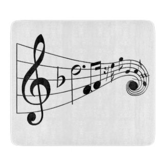 Musical Glass Cutting Board
