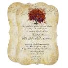 Musical Gold Coral Purple Kiss Heart Leaf Tree Card
