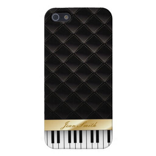 Musical Gold Striped Piano Keyboard iPhone 5 Case