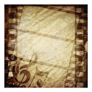 MUSICAL GRUNGE DIGITAL TEMPLATE SEPHIA MUSIC NOTES PHOTOGRAPH