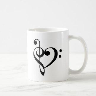 Musical Heart Basic White Mug