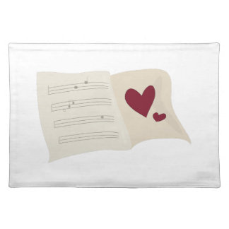 Musical Heart Cloth Placemat