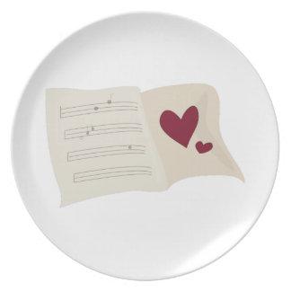 Musical Heart Plates