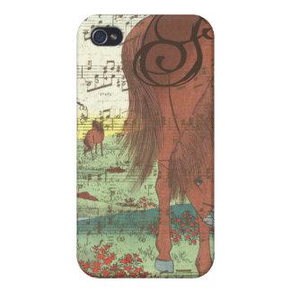 Musical Horse Monogram iPhone Case iPhone 4 Cover