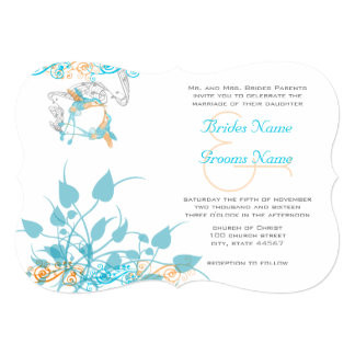Musical Hummingbird Wedding Invitation