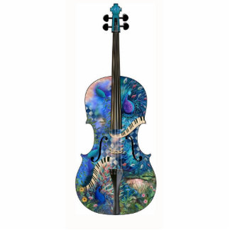 Musical Instrument 3D Photo Sculpture Cello Violin