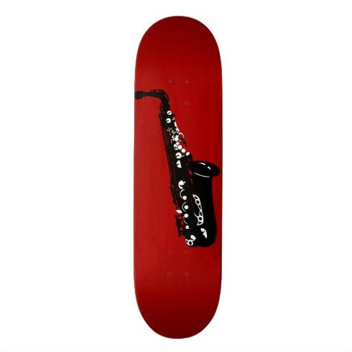 Musical instrument saxophone musicians designs skate board deck