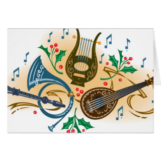 Musical instruments and holly card