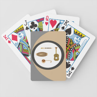 musical instruments bicycle playing cards