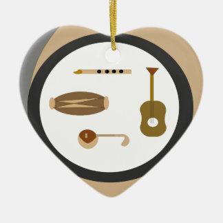 musical instruments ceramic ornament