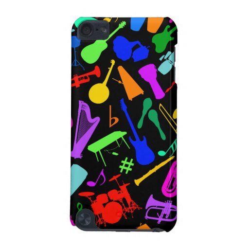 Musical Instruments Collage iPod Touch (5th Generation) Covers