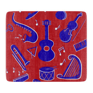 Musical Instruments Cutting Board