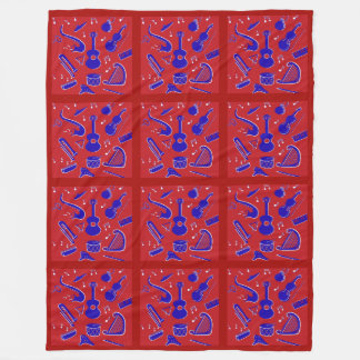 Musical Instruments Fleece Blanket