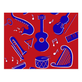 Musical Instruments Postcard